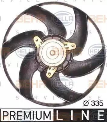 BEHR HELLA Service 8EW351043521 - Ventilador, refrigeración del motor superrecambios.com