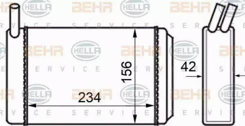 BEHR HELLA Service 8FH351024211 - Radiador de calefacción superrecambios.com