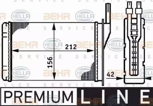 BEHR HELLA Service 8FH351311051 - Radiador de calefacción superrecambios.com