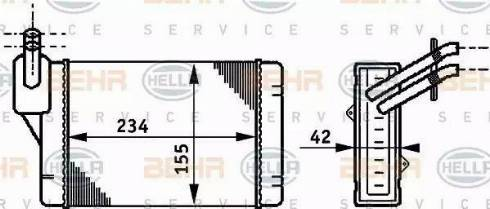 BEHR HELLA Service 8FH351311011 - Radiador de calefacción superrecambios.com