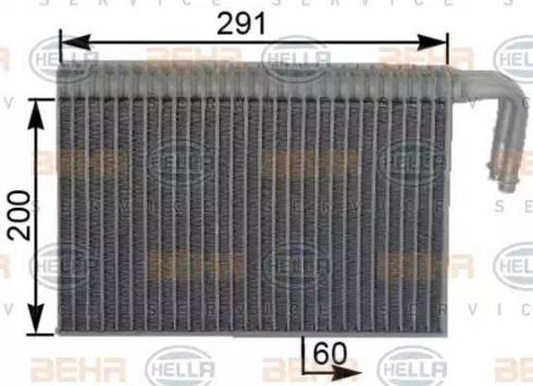 BEHR HELLA Service 8FV351330641 - Evaporador, aire acondicionado superrecambios.com
