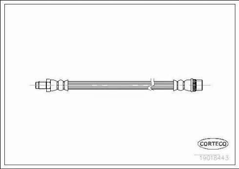 Corteco 19018443 - Tubo flexible de frenos superrecambios.com