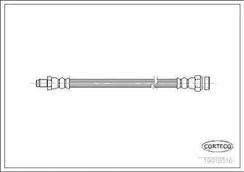 Corteco 19018510 - Tubo flexible de frenos superrecambios.com