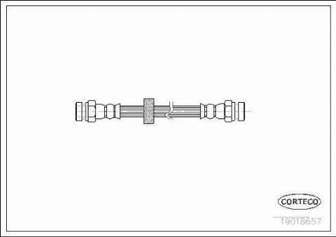 Corteco 19018657 - Tubo flexible de frenos superrecambios.com