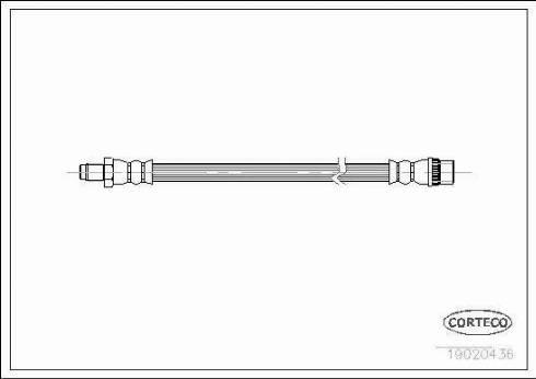 Corteco 19020436 - Tubo flexible de frenos superrecambios.com