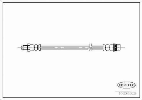 Corteco 19020028 - Tubo flexible de frenos superrecambios.com