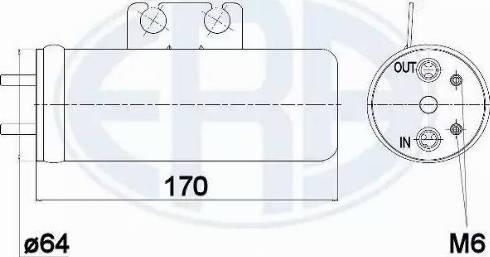 ERA 668001 - Filtro deshidratante, aire acondicionado superrecambios.com