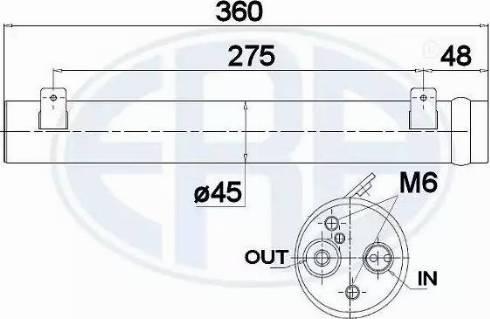 ERA 668030 - Filtro deshidratante, aire acondicionado superrecambios.com