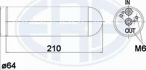 ERA 668027 - Filtro deshidratante, aire acondicionado superrecambios.com