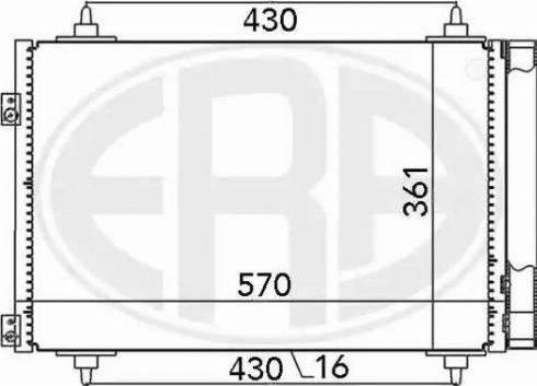 ERA 667013 - Condensador, aire acondicionado superrecambios.com
