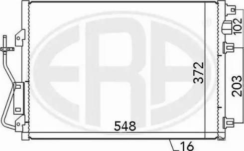 ERA 667038 - Condensador, aire acondicionado superrecambios.com