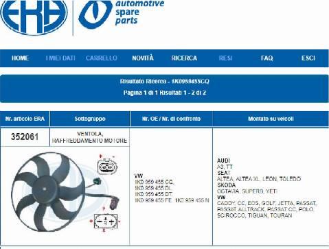 ERA 352061 - Ventilador, refrigeración del motor superrecambios.com