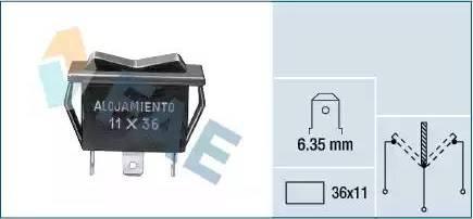 FAE 62910 - Interruptor de ventilador, calefacción/ventilación superrecambios.com