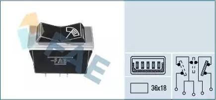 FAE 62500 - Interruptor del limpiaparabrisas superrecambios.com