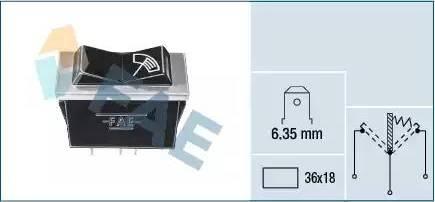 FAE 62120 - Interruptor, intervalo del limpiaparabrisas superrecambios.com