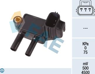 FAE 16118 - Sensor, presión gas de escape superrecambios.com