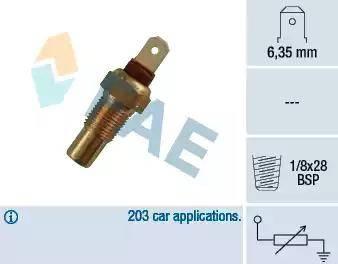 FAE 31570 - Sensor, temperatura del refrigerante superrecambios.com