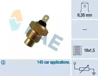 FAE 31020 - Sensor, temperatura del refrigerante superrecambios.com