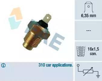 FAE 31140 - Sensor, temperatura del refrigerante superrecambios.com