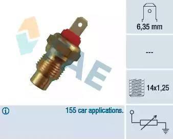 FAE 31370 - Sensor, temperatura del refrigerante superrecambios.com