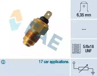 FAE 31240 - Sensor, temperatura del refrigerante superrecambios.com
