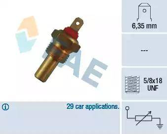 FAE 31200 - Sensor, temperatura del refrigerante superrecambios.com