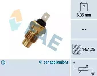 FAE 31280 - Sensor, temperatura del refrigerante superrecambios.com