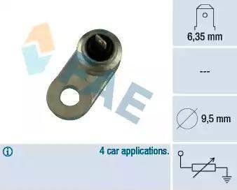 FAE 31220 - Sensor, temperatura del refrigerante superrecambios.com