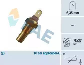 FAE 31270 - Sensor, temperatura del refrigerante superrecambios.com