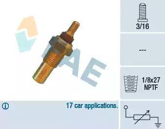 FAE 32020 - Sensor, temperatura del refrigerante superrecambios.com