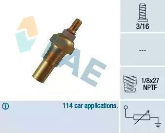 FAE 32190 - Sensor, temperatura del refrigerante superrecambios.com