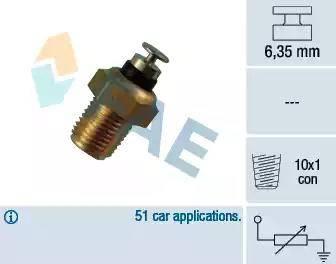 FAE 32180 - Sensor, temperatura del refrigerante superrecambios.com