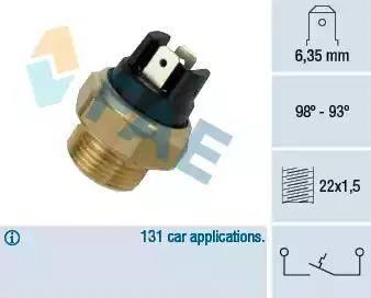 FAE 37400 - Interruptor de temperatura, ventilador del radiador / aire acondicionado superrecambios.com