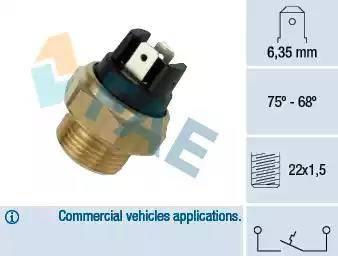 FAE 37480 - Interruptor de temperatura, ventilador del radiador / aire acondicionado superrecambios.com