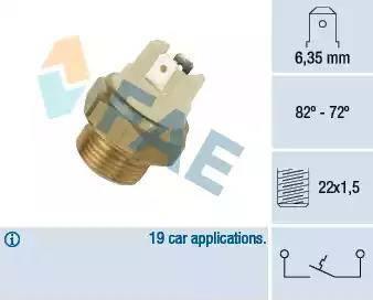FAE 37080 - Interruptor de temperatura, ventilador del radiador / aire acondicionado superrecambios.com