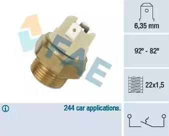 FAE 37020 - Interruptor de temperatura, ventilador del radiador / aire acondicionado superrecambios.com
