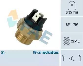 FAE 37340 - Interruptor de temperatura, ventilador del radiador / aire acondicionado superrecambios.com