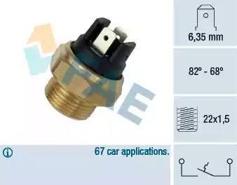 FAE 37350 - Interruptor de temperatura, ventilador del radiador / aire acondicionado superrecambios.com