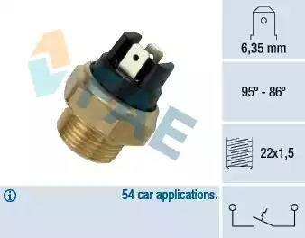 FAE 37330 - Interruptor de temperatura, ventilador del radiador / aire acondicionado superrecambios.com