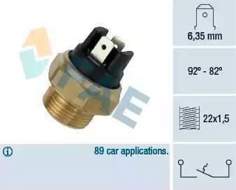 FAE 37320 - Interruptor de temperatura, ventilador del radiador / aire acondicionado superrecambios.com