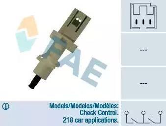FAE 24410 - Conmutador, accionamiento embrague (control veloc.) superrecambios.com