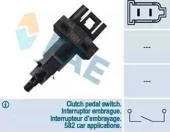 FAE 24591 - Conmutador, accionamiento embrague (control veloc.) superrecambios.com