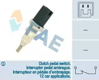FAE 24665 - Conmutador, accionamiento embrague (control veloc.) superrecambios.com