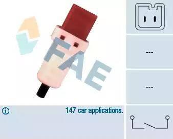 FAE 24896 - Conmutador, accionamiento embrague (control veloc.) superrecambios.com