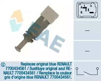 FAE 24891 - Conmutador, accionamiento embrague (control veloc.) superrecambios.com