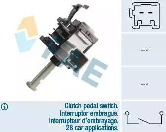 FAE 24855 - Conmutador, accionamiento embrague (control veloc.) superrecambios.com