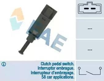 FAE 24772 - Conmutador, accionamiento embrague (control veloc.) superrecambios.com