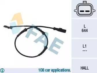 FAE 78055 - Sensor, revoluciones de la rueda superrecambios.com