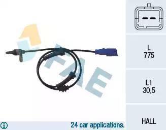 FAE 78013 - Sensor, revoluciones de la rueda superrecambios.com