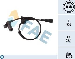 FAE 78376 - Sensor, revoluciones de la rueda superrecambios.com